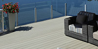Composite terraced decking
